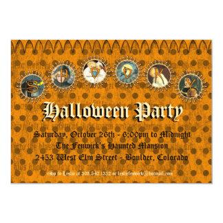 "Vintage Halloween Party Invitation 5"" X 7"" Invitation Card"