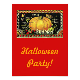 Vintage Halloween Party 4.25x5.5 Paper Invitation Card