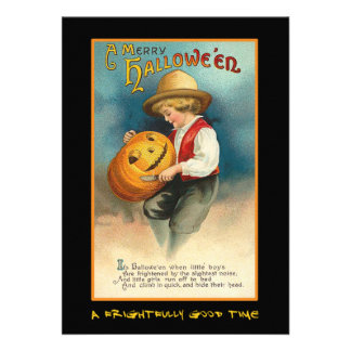 Vintage Halloween Party Invite With Bloody Text