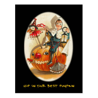 Vintage Halloween Party Invite With Bloody Text Post Cards