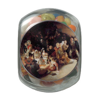 Vintage Halloween Party Painting Jelly Belly Candy Jar