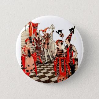 Vintage Halloween Party Pinback Button