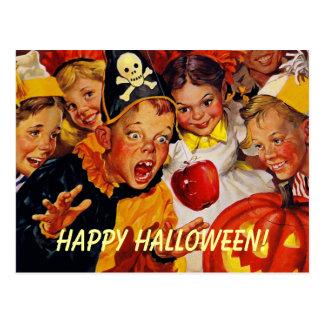 Vintage Halloween Party Postcard
