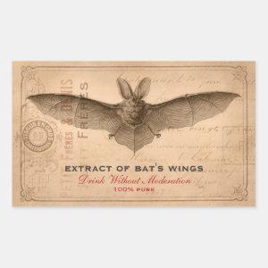 Vintage Halloween Party Scary Bat Wings Custom Sticker