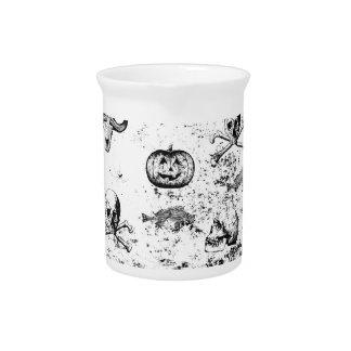 Vintage Halloween pattern Beverage Pitcher