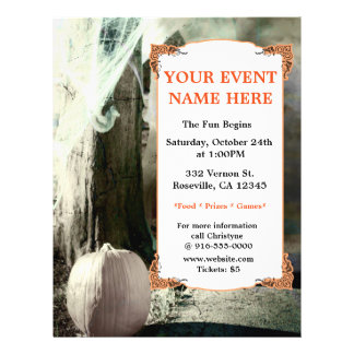 Vintage Halloween Photo Elegant Party Event Flyer