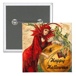Vintage Halloween Pin Cuadrado