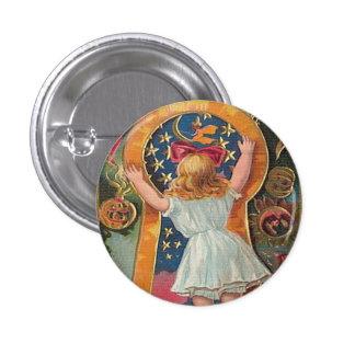 Vintage Halloween Pin Redondo De 1 Pulgada