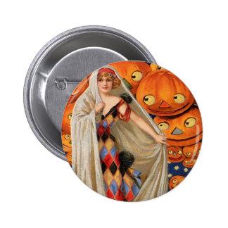 Vintage Halloween Pin Redondo De 2 Pulgadas