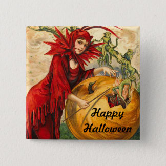 Vintage Halloween Pinback Button