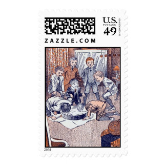 Vintage Halloween - Postage Stamp