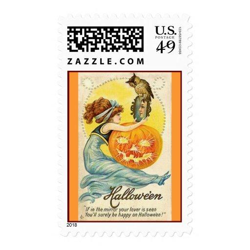 Vintage Halloween Postage Stamps