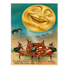 Vintage Halloween Postcard at Zazzle