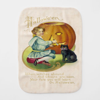 Vintage Halloween Postcard Burp Cloth