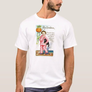 Vintage Halloween Postcard - Ghosts! T-Shirt