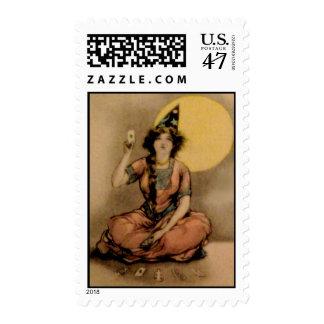 Vintage Halloween Postcard Postage