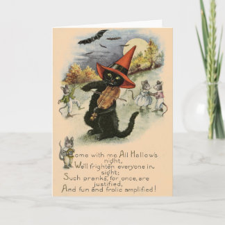 Vintage Halloween Pranks Greeting Card