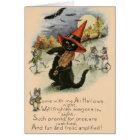 Vintage Halloween Pranks Greeting Card