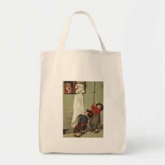 Vintage Halloween Pranksters Tote Bag