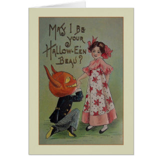 Vintage Halloween Proposal Greeting Card