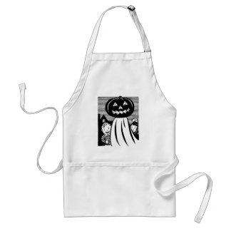 Vintage Halloween Pumpkin Ghost Adult Apron