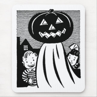 Vintage Halloween Pumpkin Ghost Mousepads