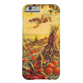 Vintage Halloween Pumpkin Patch with Haystacks iPhone 6 Case