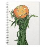 Vintage Halloween Pumpkin Spiral Notebooks