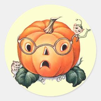 Vintage Halloween Pumpkin Sticker