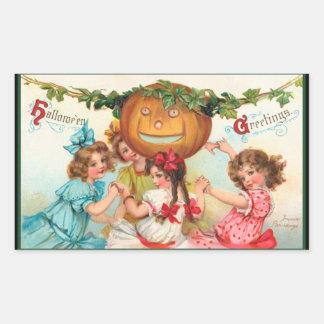 Vintage Halloween Pumpkin Stickers