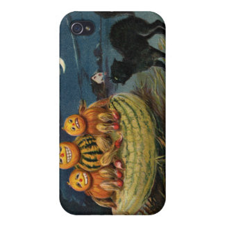 Vintage Halloween Pumpkins iPhone 4/4S Cover