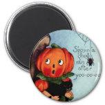 Vintage Halloween Round Magnet