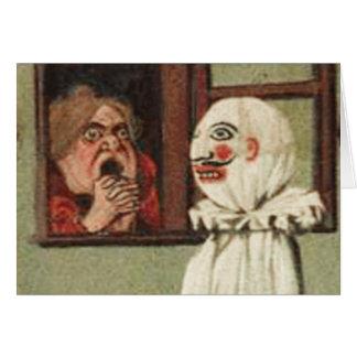 Vintage Halloween Scare Card