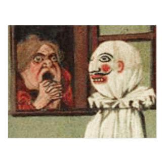 Vintage Halloween Scare Card Postcard