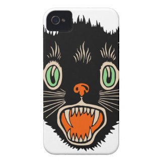 Vintage Halloween Scared Black Cat Case-Mate iPhone 4 Case