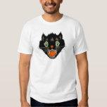 Vintage Halloween Scared Black Cat T-Shirt