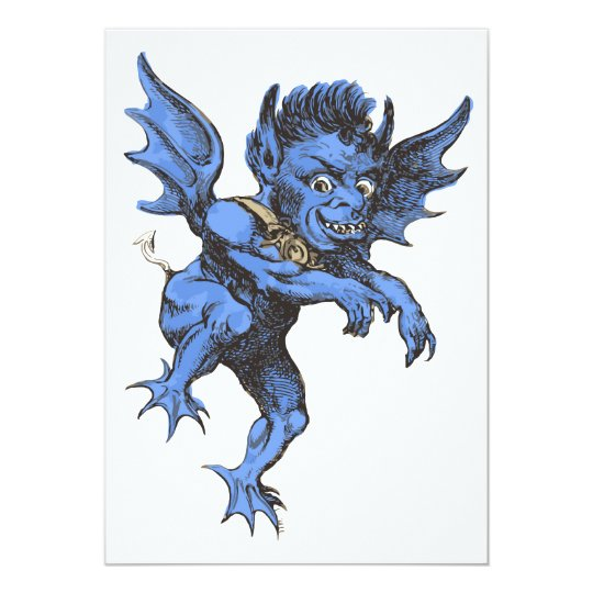 Vintage Halloween, Scary Evil Gargoyle Demon Card