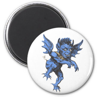 Vintage Halloween, Scary Evil Gargoyle Demon Magnet
