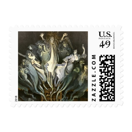 Vintage Halloween, Scary Ghosts and Skeleton Music Postage