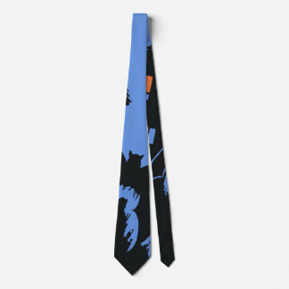 Vintage Halloween, Scary Haunted House and Witch Neck Tie