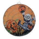Vintage Halloween Scene Dart Boards