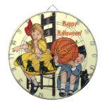 Vintage Halloween Scene Dartboards
