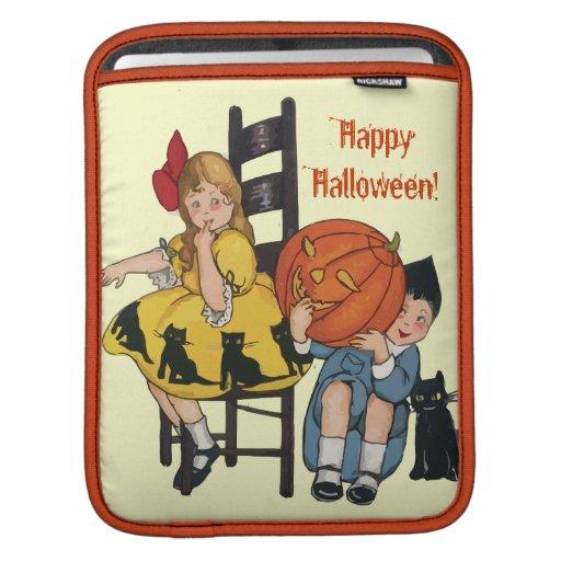 Vintage Halloween Scene iPad Sleeves