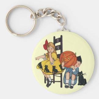 Vintage Halloween Scene Keychains
