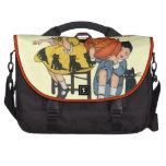 Vintage Halloween Scene Laptop Bag