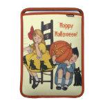 Vintage Halloween Scene MacBook Sleeves
