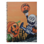 Vintage Halloween Scene Notebooks