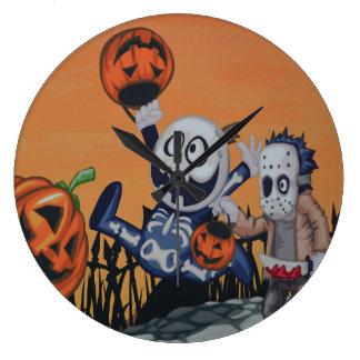 Vintage Halloween Scene Wall Clocks