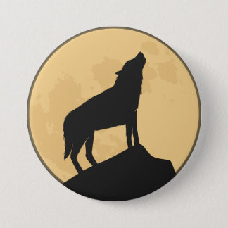 Vintage Halloween Silhouette Design Button