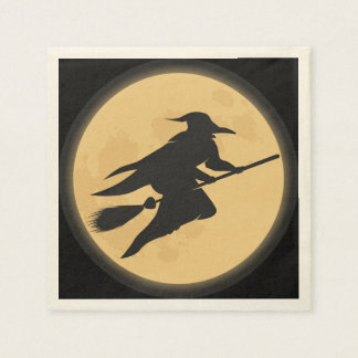 Vintage Halloween Silhouette Design Paper Napkin